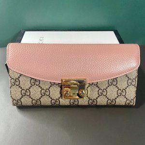 🎶G-u-c-c-i🎶 Long Flip Pink Wallet